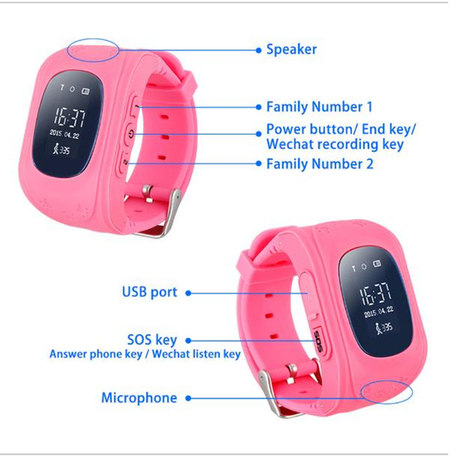 Zeepin Q50 Smart Telephone Watch Kids GPS SOS Call Locator Track Anti-Lost Baby Safe Monitor OLED LCD for iOS Android Russian 1