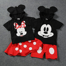 Mickey Baby Boy Clothing Set Minnie Girls Clothes Disney Twin Brothers and Sisters 2pcs Suit School Uniform Sports Outfit Sets