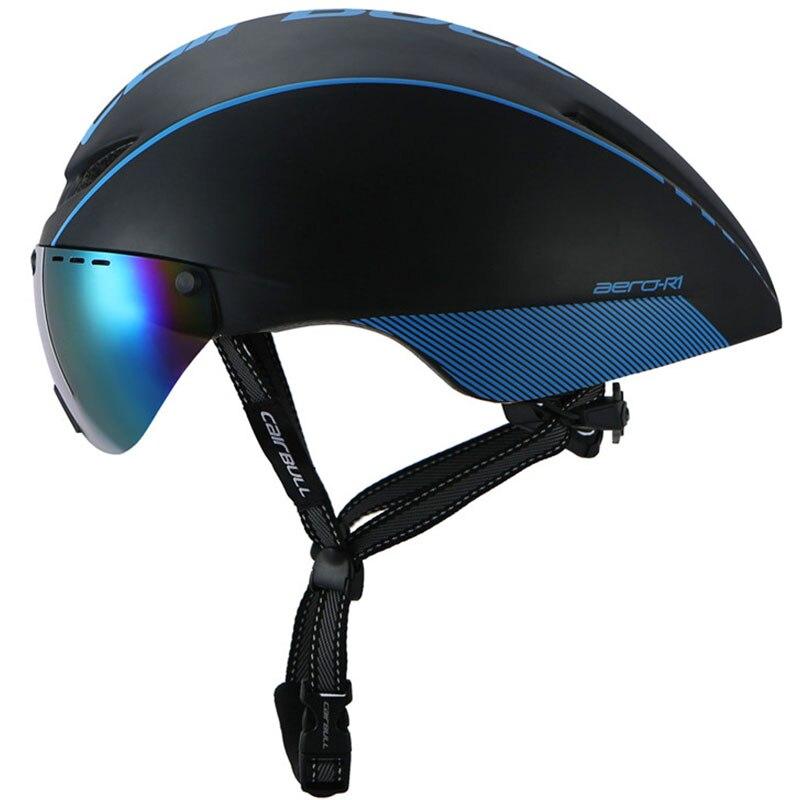 New Aero TT Road Bicycle Helmet Goggles Racing Cycling Bike Sports Safety Helmet in-mold Bike Cycling Goggle Helmet brand стоимость