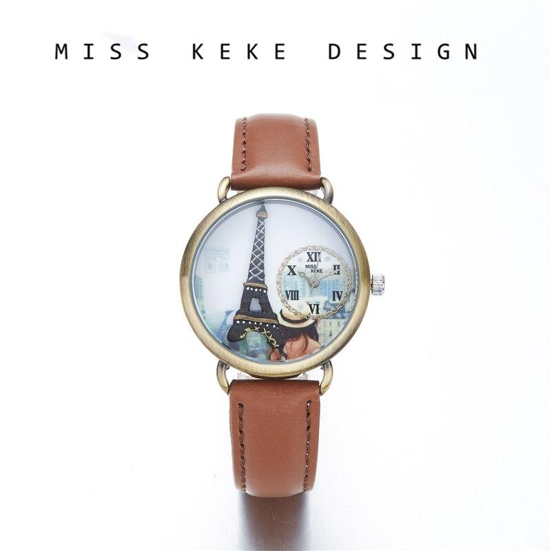 Fröken Keke 2018 New Design Clay Söta Genève Gåva Valentine Kids - Barnklockor