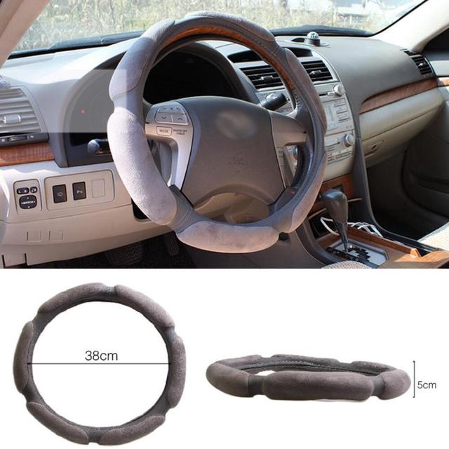 BROSHOO envío gratis 38 CM tridimensional antideslizante cubierta del volante del coche sándwich accesorios del coche