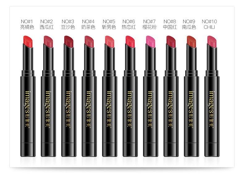 Rouge à lèvres imperméable Nude mat couleur citrouille rouge à lèvres E hydratant résistant à l'eau rouge à lèvres professionnel