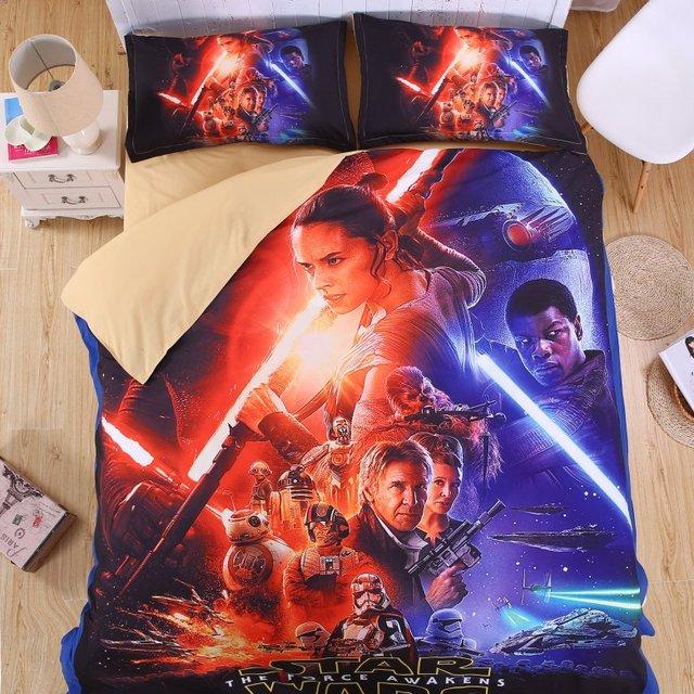 Star Wars 3D Bedding Sets  4pcs – Full /queen/ king size