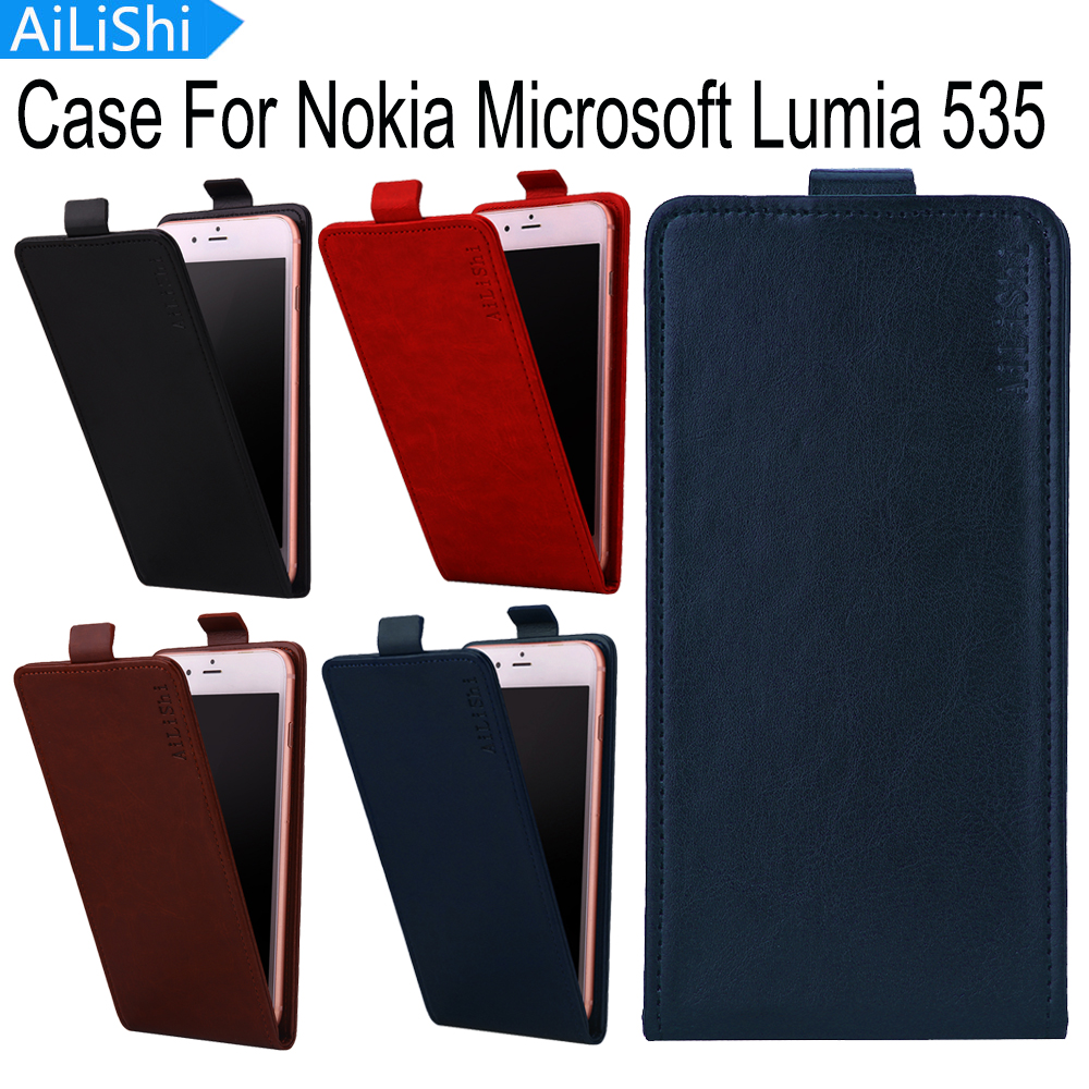 AiLiShi 4 Colors For Nokia Microsoft Lumia 535 Case Top Quality Flip PU Leather Case Hot Sale Protective Cover Skin In Stock