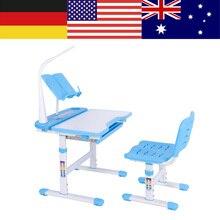 960876f02850 Altura ajustable de los niños escritorio y silla cómoda conjunto con  lámpara mesa de estudio niños