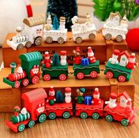 Let S Make Baby Toys Car Christmas Day Baby Gifts Blocks Montessori Toys Wooden Decoration Toys