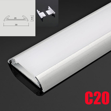 C20 5 Sets 50cm Under Cabinet Lights LED Aluminum Channel System With Diffuse Cover End Caps Aluminum Profile for LED Bar Lights