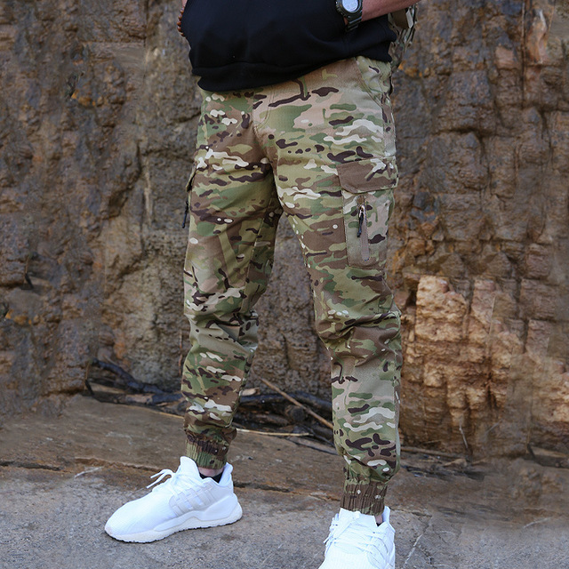 Mege Brand Men Fashion Streetwear Casual Camouflage Jogger Pants Tactical Military Trousers Men Cargo Pants for Droppshipping 68