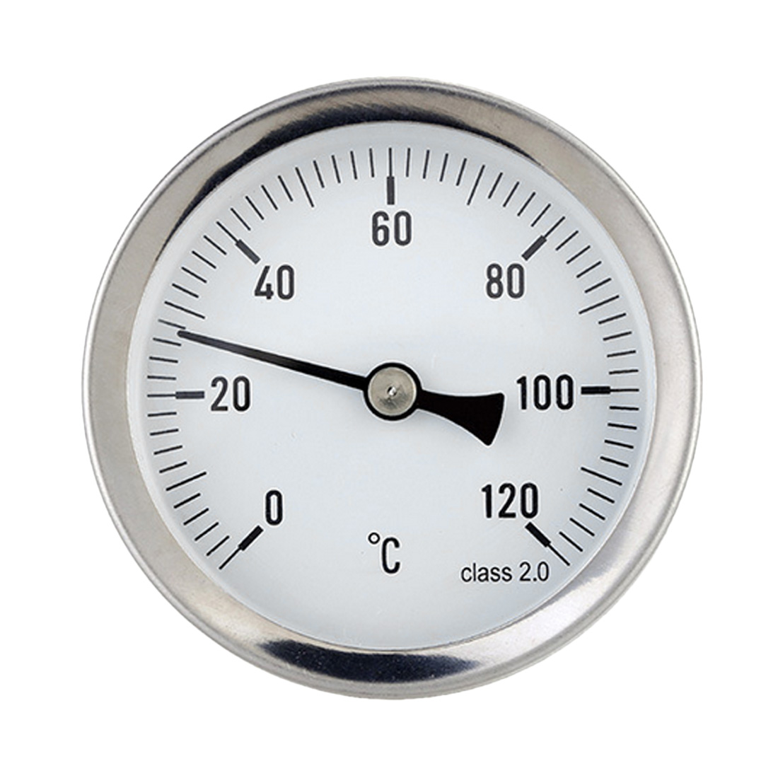 63mm Dial Horizontal Thermometer Aluminum Temperature