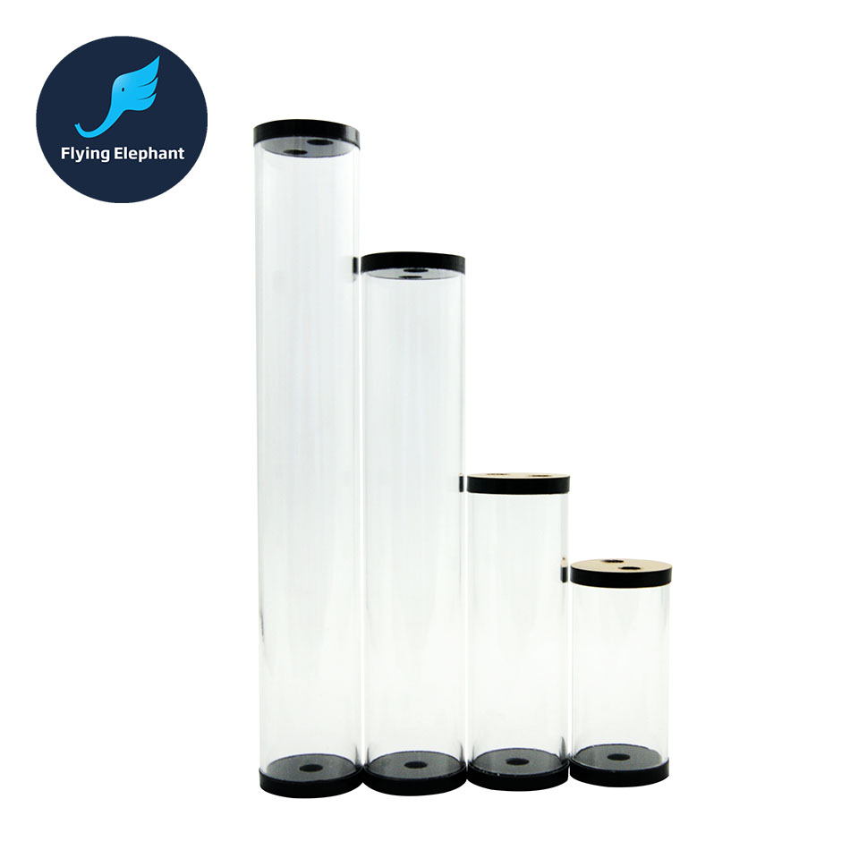 90mm 135mm 215mm 240mm 300mm diameter 50mm Water Cooling Tank Computer Transparent Cylindrical Water Reservoir water cooling computer acrylic water tank transparent
