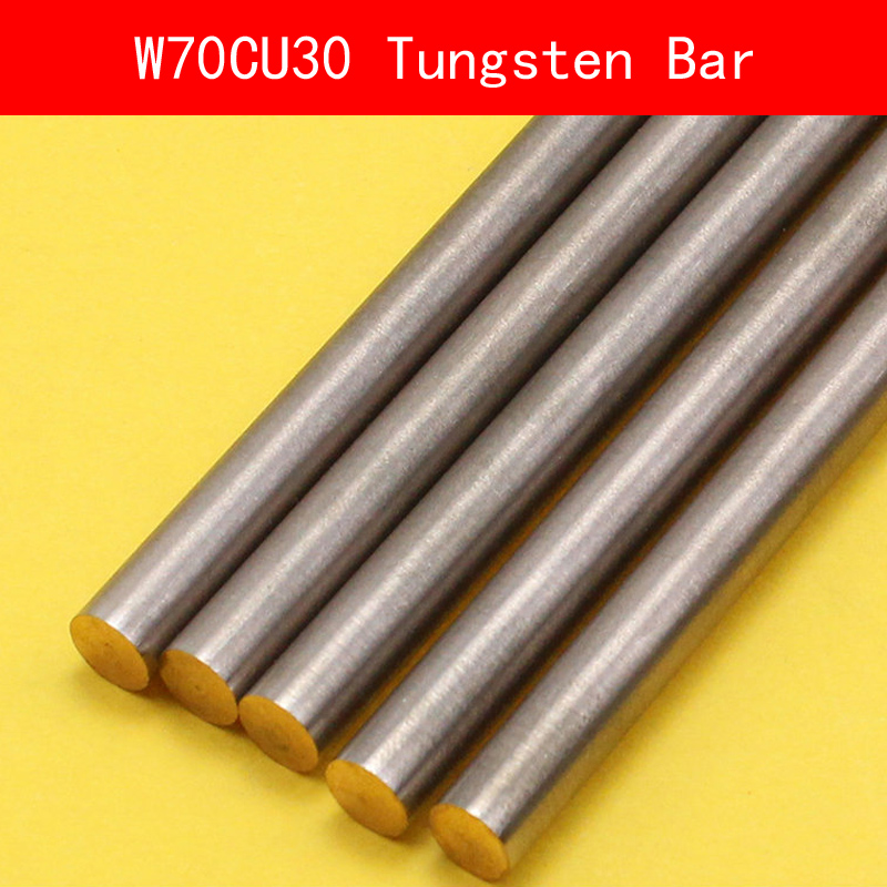 Diameter 1-15MM Length 100mm Tungsten Copper Alloy Bar Rod W70Cu30 W70 Bar Spot Welding Electrode DIY CE ISO Certificate 5pcs 100mm length graphite rod 10mm diameter electrode cylinder rods bars black for industry tools