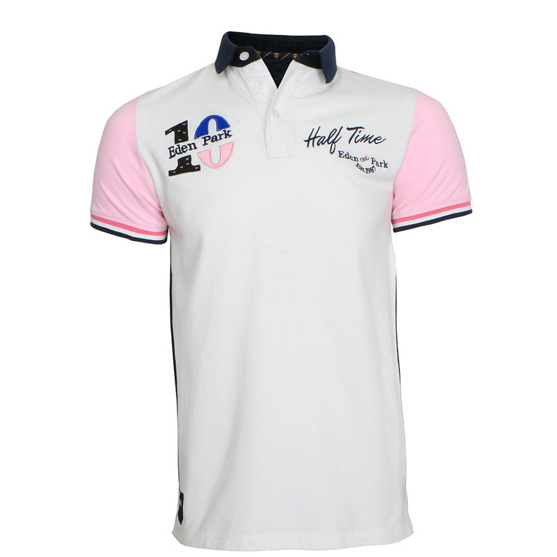 Hot sale Luxury Eden Park   Polos   shirt France Brand Summer Men pink Short Sleeve 100% Cotton Camisa Masculina Mens   Polo   shirts