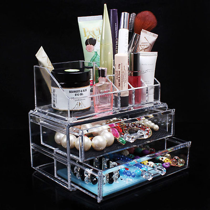 Buy desk transparent acrylic cosmetic - Desk makeup organizer ...