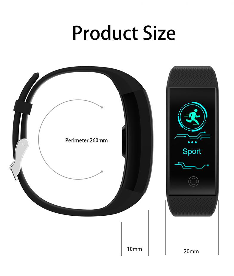 FROMPRO 18 Color Screen Smart Bracelet Heart Rate Monitor IP68 Waterproof Fitness Tracker Band Bluetooth 4.0 Sports Wristbands 16