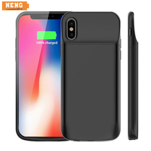 NENG 6000mAh Battery Wireless Charger Case For iPhone X Power Bank For iPhone X Battery Case