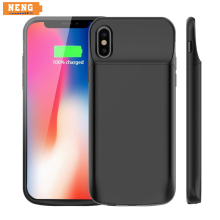 NENG 6000mAh Battery Wireless Charger Case For iPhone X Power Bank For iPhone X Battery Case Portable External Battery Portable