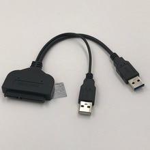 USB3.0 SATA Veri Kablosu sabit disk Yüksek Hızlı Veri Transferi Kablosu Için 2.5 inç Şarj USB HDD Tak Ve çalıştır 15 cm 1 Adet