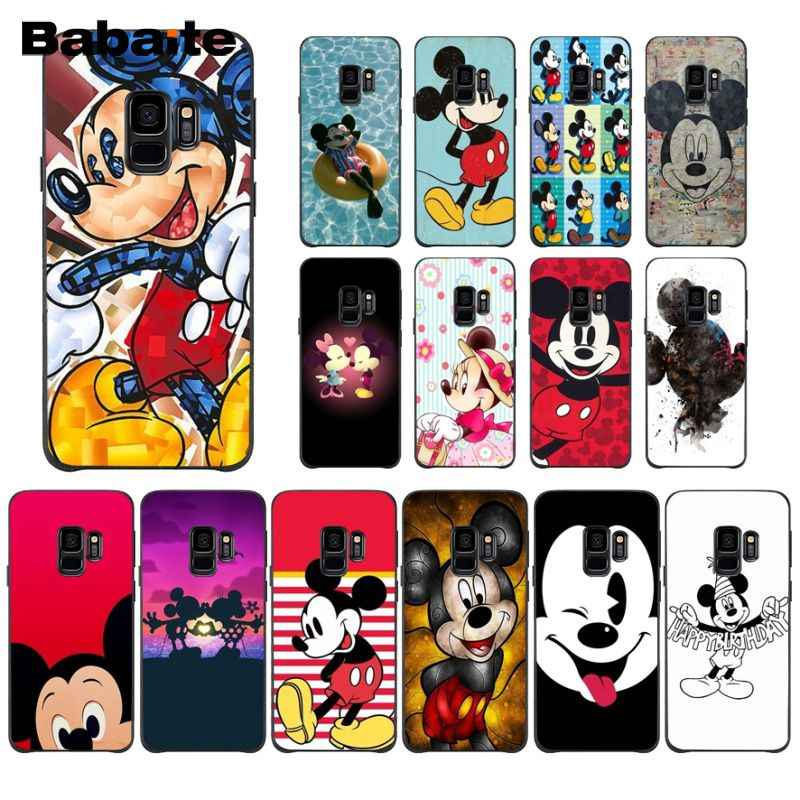 Babaite Cartoon Mickey Mouse Popular Custom TPU Phone Cover For GALAXY s5 s6 edge  s7 edge s8 plus s9 plus