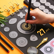 27pcs Spirograph Drawing Toys Set Magic Painting Template Geometric Ruler Creative Educational Toy For Children Adults