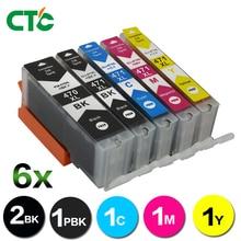 6 PACK PGI-470 CLI-471 pgi470 cli471 470 471 Full Ink cartridge compatible for Canon PIXMA MG5740 MG6840 TS5040 TS6040