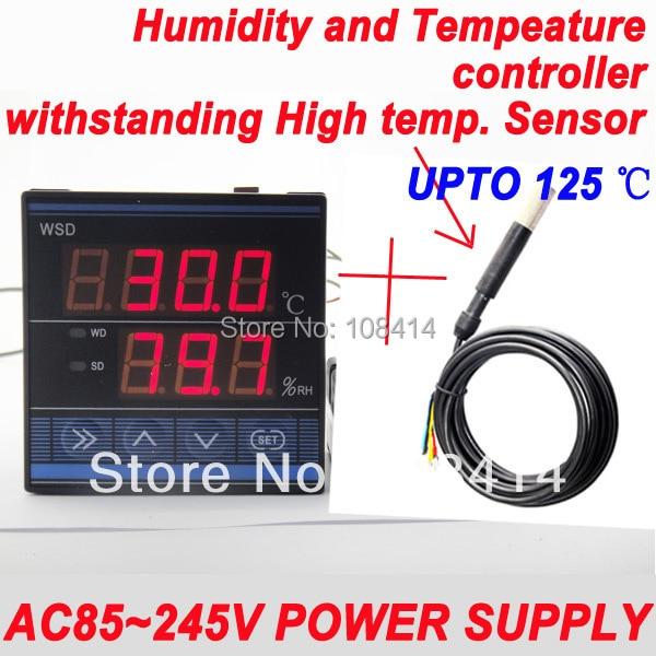AC 85 ~ 245VAC Питания Профессиональный Цифровой Температуры И Влажности Контроллер с Выдерживать Высокие Температуры Датчик