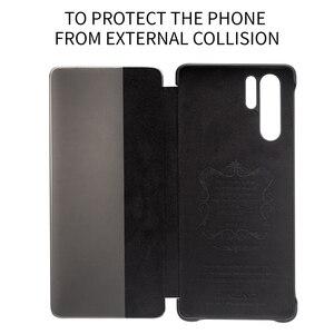 Image 5 - Ультратонкий флип чехол QIALINO из натуральной кожи для Huawei P30 Pro, 6,47 дюйма, чехол ручной работы для телефона с умным просмотром для Huawei P30