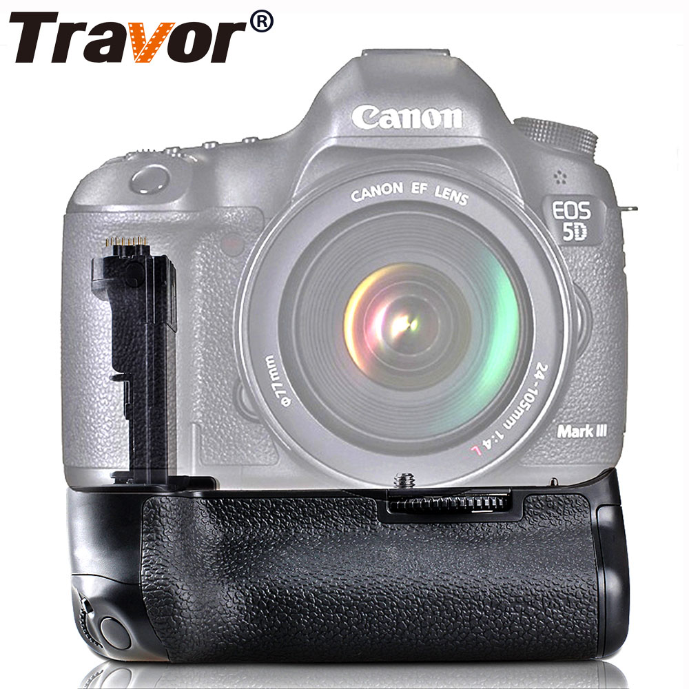 Travor Vertical Battery Grip Holder For Canon EOS 5D Mark III 5DIII 5D3 DSLR Camera Battery Handle Replaceement BG-E11
