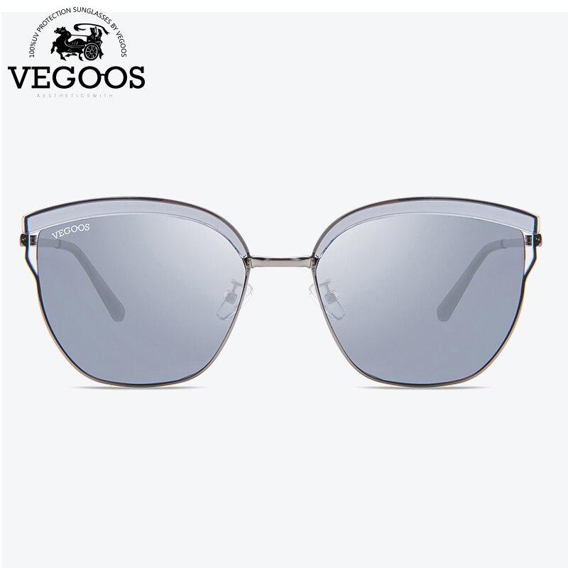 Polarisées VEGOOS Unique Carré lunettes de Soleil Femmes Unisexe TAC Objectif Unique Conception Mince Cadre de Conduite En Plein Air Rétro Lunettes de Soleil #6125