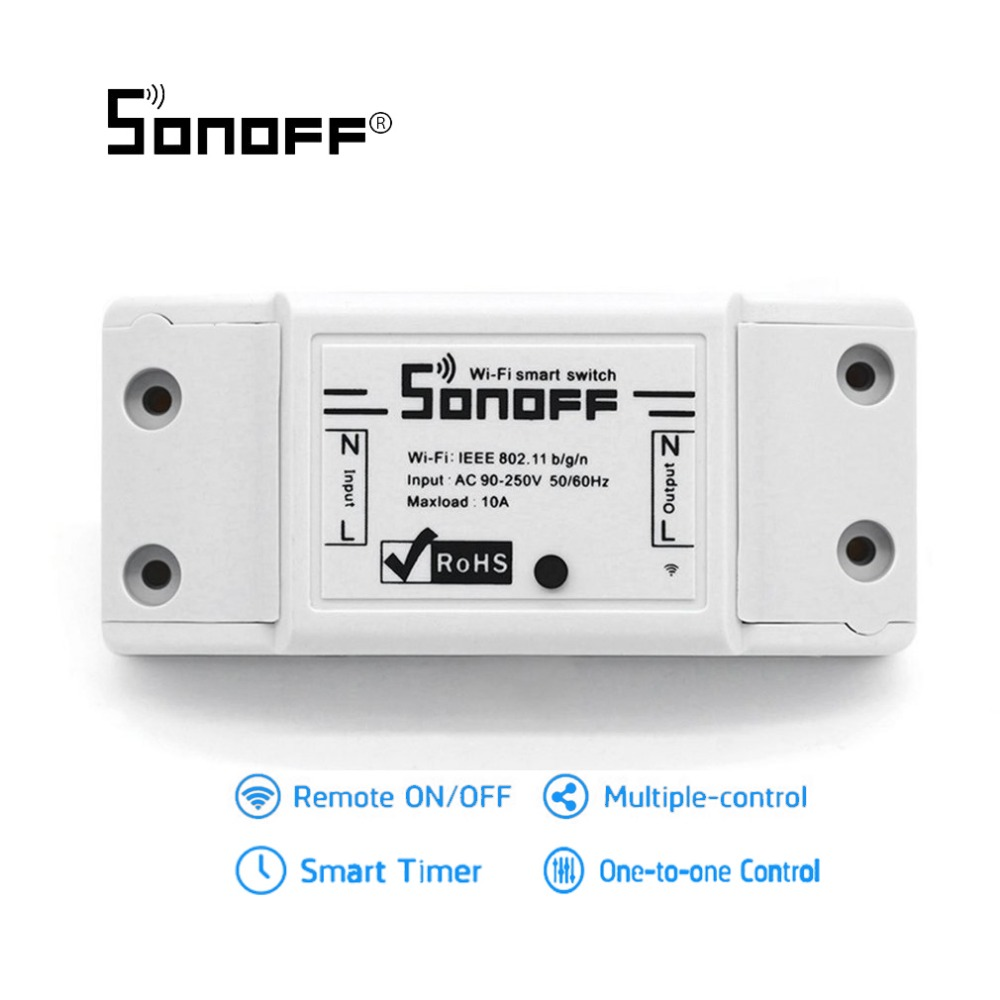 Sonoff Wifi Switch Universal Wireless Smart Home Automation Threewire System Wall Mount Automatic Ir Motion Sensor Light Relay Module With Ios Android App Controll For Diy