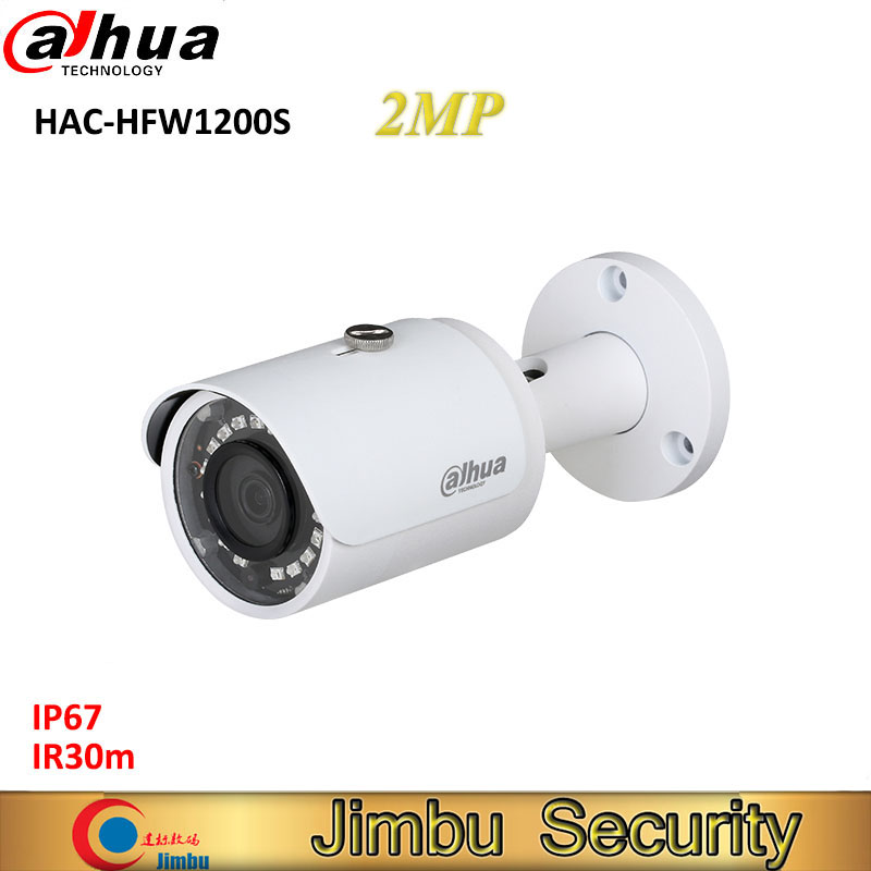 Dahua 2MP HDCVI camera HAC-HFW1200S 1080P Water-proof IP67 Bullet Camera lens 3.6mm IR LEDs length 30m mini security camera dahua 2mp hdcvi camera cctv 1080p water proof ip67 hac hfw1200s bullet camera lens 3 6mm ir leds length 30m mini security camera