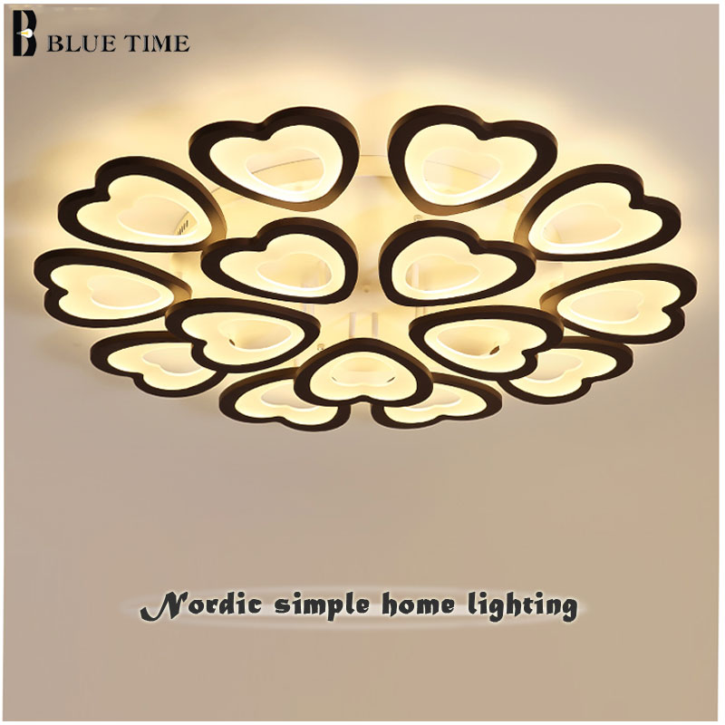 Surface Mounted Modern LED Ceiling Lights For Living room Bedroom Dining room Lighting Fixtures New Led Chandelier Ceiling Lamps chandeliers lights led lamps e27 bulbs iron ceiling fixtures glass cover american european style for living room bedroom 1031