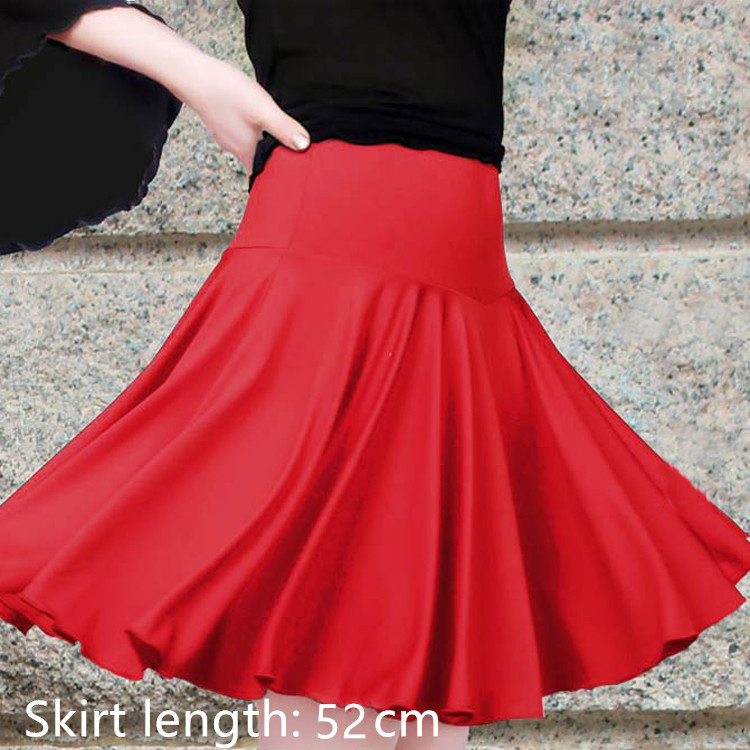 Os novos trajes de dança feminina dança latina saia adulto saia de dança quadrada saia vestido contém lady dancewear