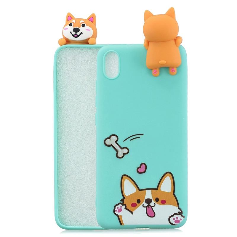 FLYKYLIN 3D Soft TPU Silicone Doll Cartoon Skin Phone Case For Xiaomi Redmi Phones 3