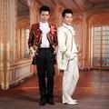 Terno oferta especial por atacado masculino palácio vestuário temático vestido palácio europeu com o príncipe vestes reais trajes de Jazz para estrela