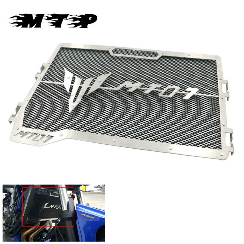 MT 07 FZ 07 Motorcycle Steel Engine Radiator Grill Guard Tank Cover Net Protector For Yamaha MT07 MT-07 FZ07 FZ-07 2013-2016 motorcycle radiator protective cover grill guard grille protector for kawasaki z1000sx ninja 1000 2011 2012 2013 2014 2015 2016