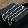 4 мм кулон с цепочкой ожерелье квадратные пряжки 100% стерлингового серебра 925 ожерелье для женщин и мужчин 925 ювелирные изделия GN4