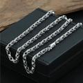 4mm pingente com colar de corrente fivela quadrada 100% 925 sterling silver colar de pingente para as mulheres e homens 925 jóias GN4