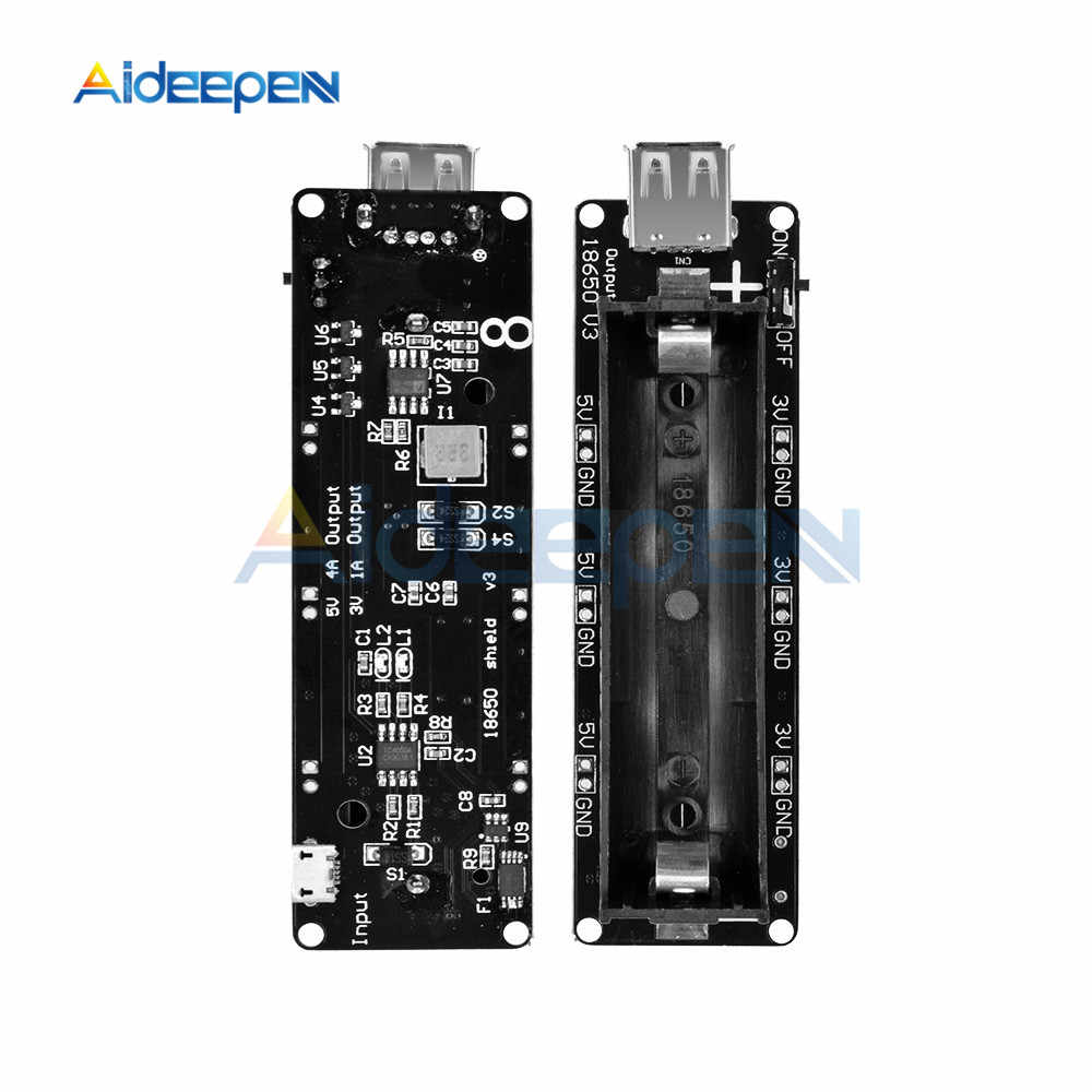 ESP32 ESP32S For Wemos 18650 Battery Charge Shield Module Board V3 Micro USB Port Type-A USB For Arduino Charge Cable
