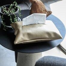 ПУ Скандинавская креативная бумажная сумка для хранения полотенец простая Роскошная большая прикроватная Автомобильная бумага набор контейнер для хранения Органайзер Домашний декор