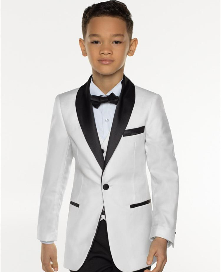 Thorndike 2019 Nieuwe Jongens Smoking Jongens Diner Suits Driedelige Jongens Black Shawl Revers Formele Tuxedo voor Kids Smoking-in Pakken van Mannenkleding op  Groep 1