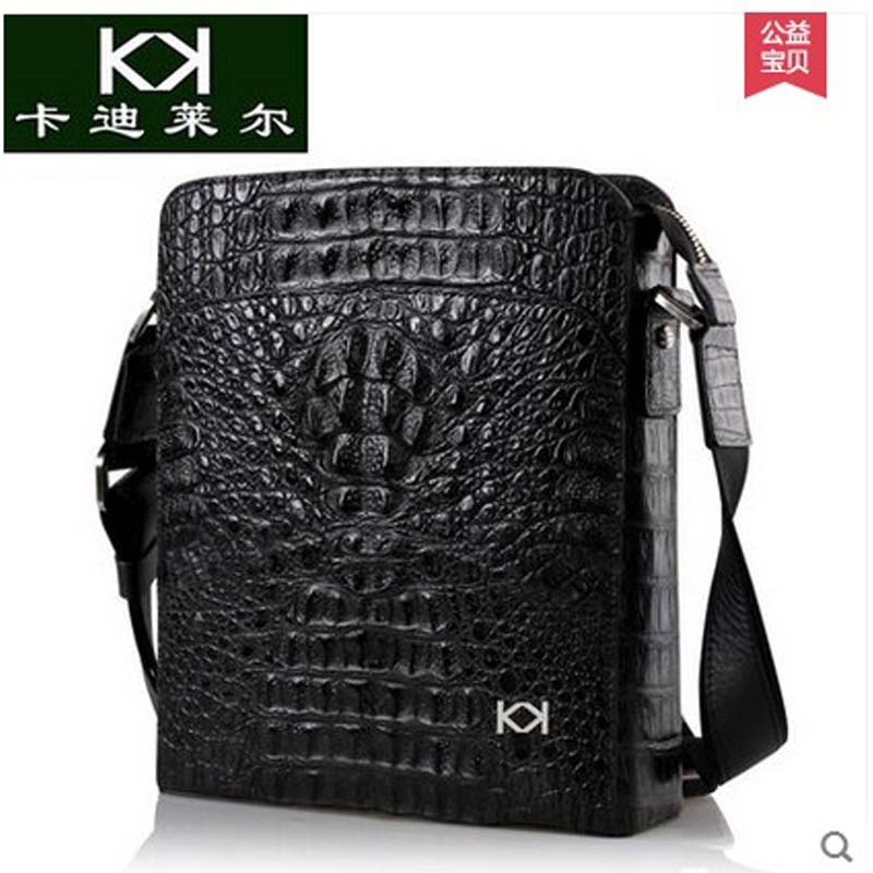 KADILER The new men's single shoulder bag vertical import crocodile male package bag leisure real leather men bag tihinco new authentic crocodile handbag single shoulder bag leather male fashion business and leisure bag document package
