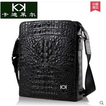 KADILER The new men s single shoulder bag vertical import crocodile male package bag leisure real