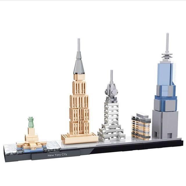 Nuevos regalos brinquedos diy bloques de construcción de alta calidad de nueva york modelo mini street view chicos inspiración juguetes de los niños