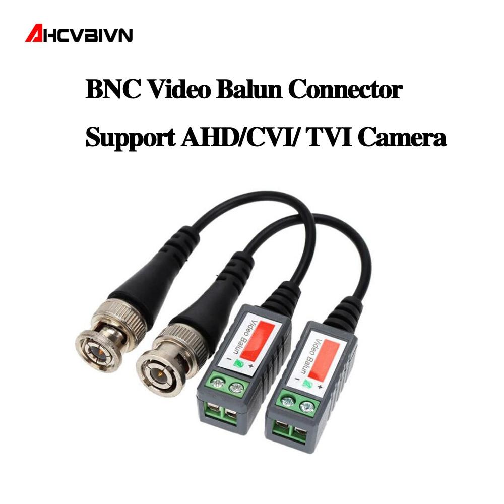 10 pièces ABS plastique CCTV vidéo Balun CCTV accessoires émetteurs-récepteurs passifs 2000ft Distance UTP Balun BNC câble CAT5 câble