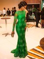 Fancy Green Hot Sale Mermaid Arabic Evening Dresses Dubai Kaftan Celebrity Dresses Floor-Length Appliques Party Gowns Vestidos