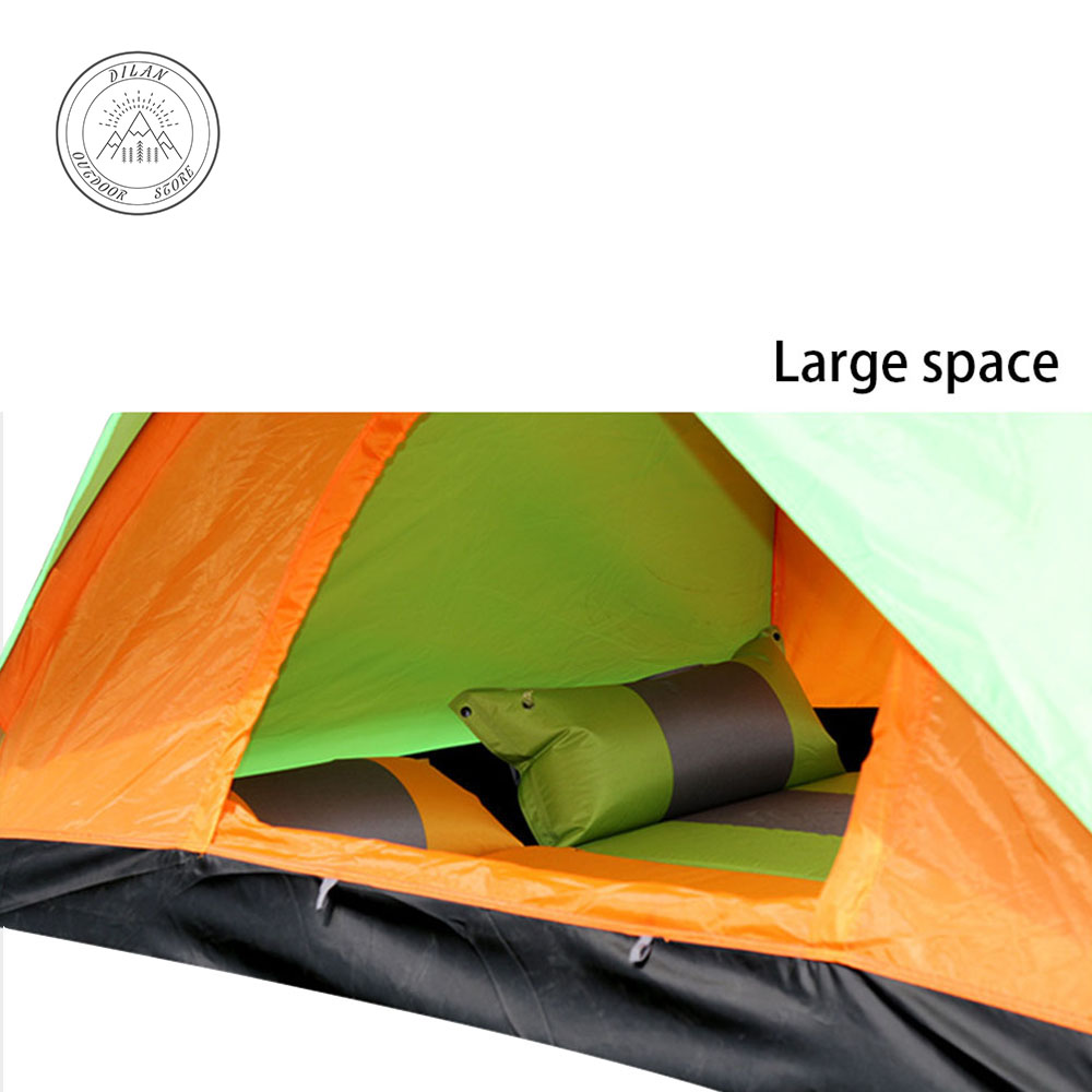 1 3 Person ultralight tent Double layer water resistance Double door Camping and recreational rain shelter Outdoor tent Portable in Tents from Sports Entertainment