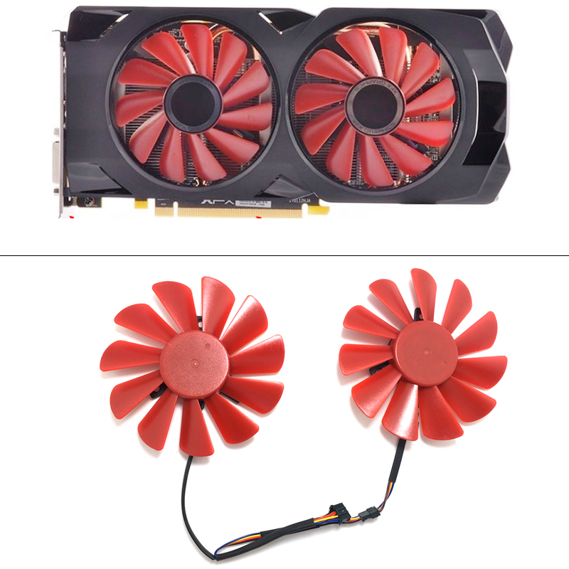 Original NEW 85mm FDC10U12S9-C PC Cooling fan Cooler Fan Replace For or HIS XFX RX 570 RS R9 285 390X RX580 Bitcoin Mining