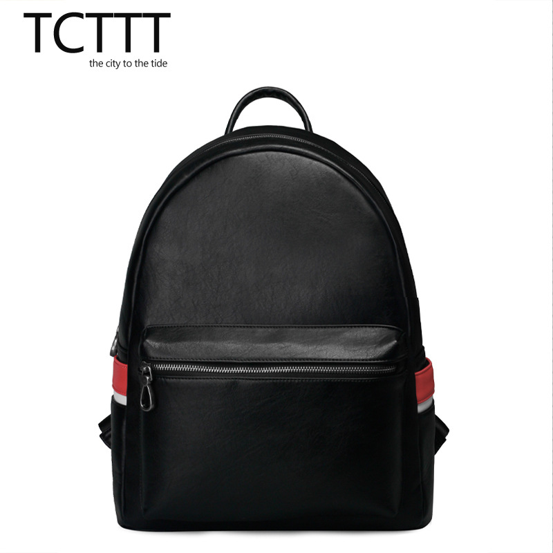 ФОТО Men Retro British style Backpack High quality  Classic Black Stripe Boy School bag waterproof Large capacity travel  backpack