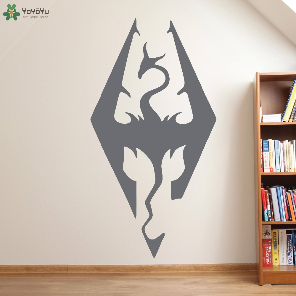 Dragonborn wall decal for kids rooms vinyl wall stickers - Childrens bedroom wall stickers removable ...