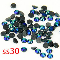 SS30 Darke Green AB 40 Gross/bag Crystal Loose Stones Glue on Crystal Nail Art Stone for Fashion DIY